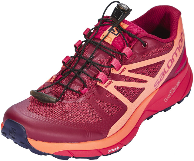Salomon W's Sense Ride Shoes Sangria/Living Coral/Virtual Sosa